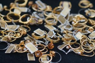 A large collection of costume jewellery rings