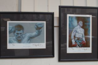 2x Ricky Hatton limited edtion signed prints
