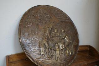 Large brass plaque
