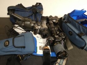 Collection of camera & video equipment
