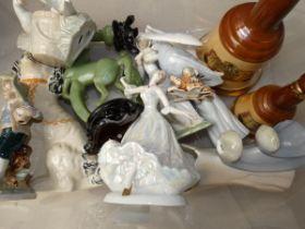Box of ceramics & others