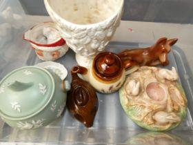 Box of ceramics to include Sylvac