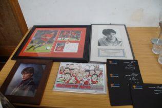 Carlos Tevez signed Manchester united montage toge