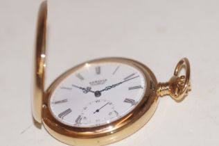 Gold plated Hunter pocket watch Sewills Liverpool