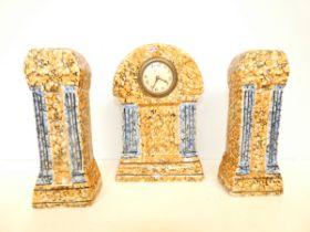 Sa La Majolique Wasmuel Art Deco French clock and