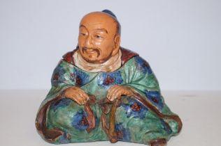 Oriental terracotta tea caddy