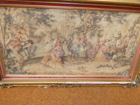 Victorian needle point with possibly original plas