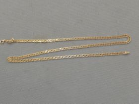9ct Gold curb chain Length 23 inch Weight 9.7g