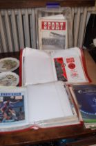 Large collection of early football programs & maga