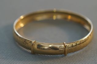 9ct Gold expanding bangle Weight 7.3g