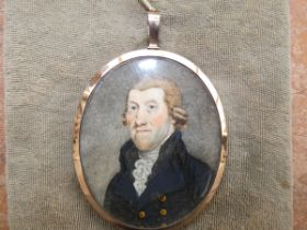 Georgian miniature of a gentleman with a unmarked