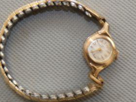 9ct Gold cased ladies Bentima cocktail watch