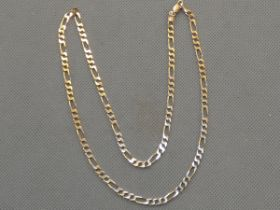 9ct Gold Figaro chain Length 20 inch Weight 10g