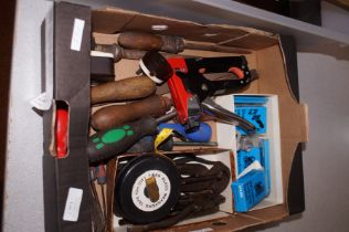Small box of vintage tools
