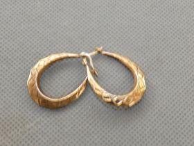 Pair of 9ct Gold loop earrings