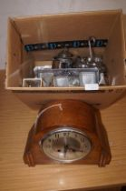 Box to include a early 20th century mantle clock