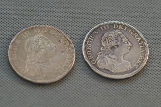 2x George III silver dollars dated 1804