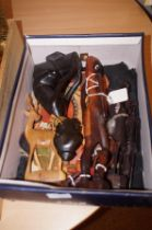 Box of small African figures