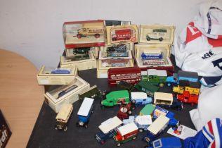 Box of model vans