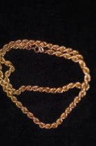 9ct Gold rope necklaces Weight 12g