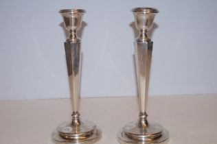Pair of silver candle sticks Birmingham