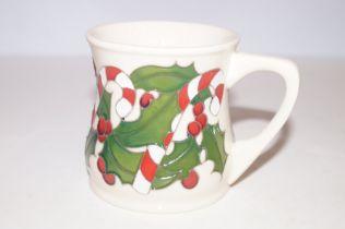 Moorcroft Candy cane mug