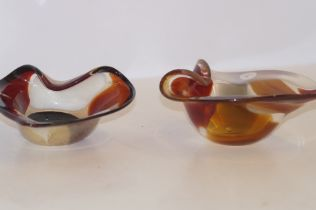Pair of Mdina glass dishes
