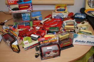 Large collection of model London buses