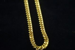 Large & heavy gold plated metal chain