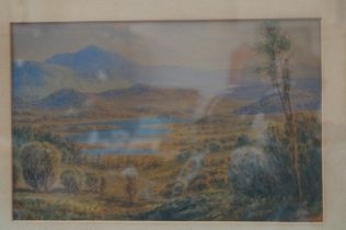 Victorian watercolour dated 1898 'Elterwater west