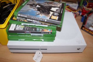 Xbox One & 7 Games (Untested)