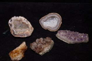 Collection of amethyst rocks