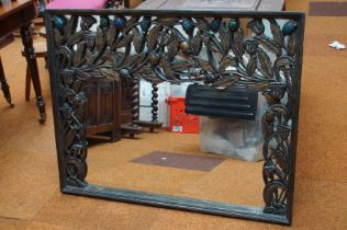 Large & heavy carved wood mirror