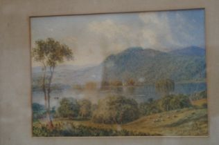 Victorian watercolour dated 1893 'The Ferry Windem