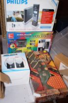 Domestic cctv system, Philips telephone & 2 others