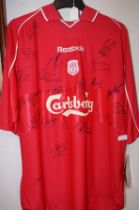 Liverpool signed shirt, size 42/44
