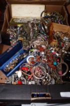 Large box of costume jewellery
