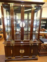 Large oriental style display cabinet