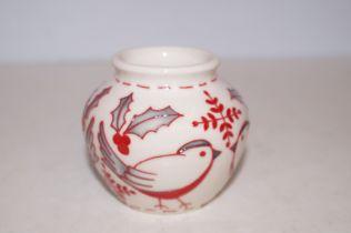 """Moorcroft Nordic Noel vase 3"""""""