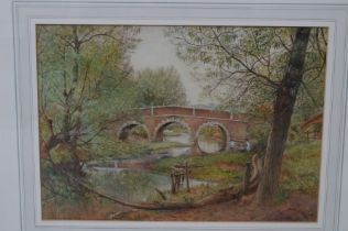 A. Ritchie Smith watercolour Woodford Bridge Essex