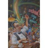 Charlie Shields original pastel Bar scene 92x66 cm