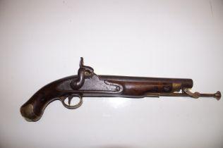 Early 19th century Lacy & Co London flintlock pist