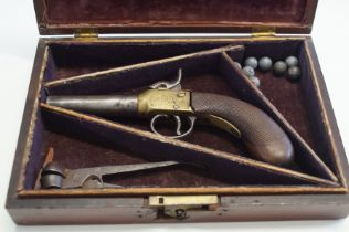 Early 19th century, pocket percussion pistol