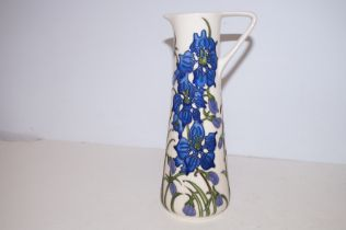 Moorcroft large Delphinium jug