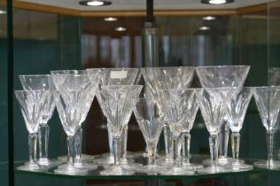 17 Waterford crystal glasses ' Shelia pattern ' 1