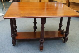 Victorian mahogany gate leg table