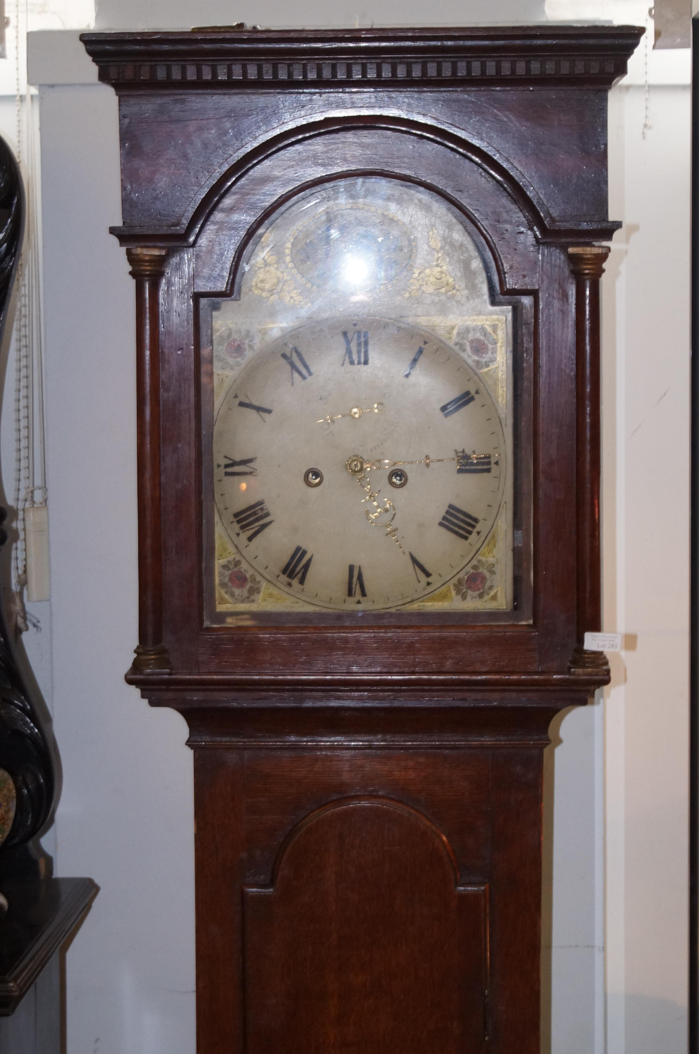 Early 19th century long case cottage clock (North