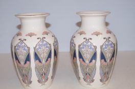 Pair of masons ironstone Lanthe liberty London vas