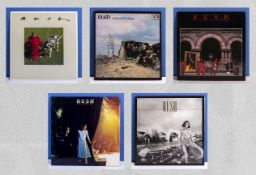 Five albums by RUSH, Signals, A Farewell to Kings, Moving Pictures, Exit Stage Left (double) and