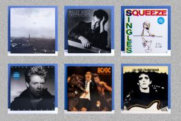 Six albums, Deacon Blue 'Raintown' Billy Joel 'Greatest Hits' Vol. 1 only, Squeeze 'Singles - 45's